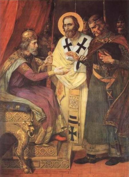 паја јовановић, свети сава мири завађену браћу